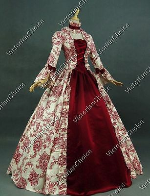 Victorian Renaissance Fair Princess Antique Print Dress Reenactment Wear N 138