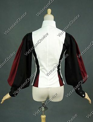 Victorian Pirate Equestrian Vintage Riding Habit Blouse Steampunk Shirt B024 3