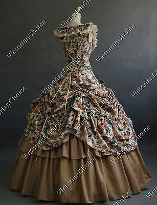 Victorian Southern Belle Princess Masquerade Gown Fantasy Dress Theatre Wear 081