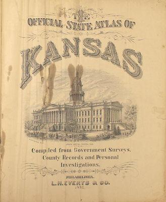 Antigüedad Mapa - Garnett,Reserva,Willis,Hamlin & Robinson - 1887 Kansas Atlas 8