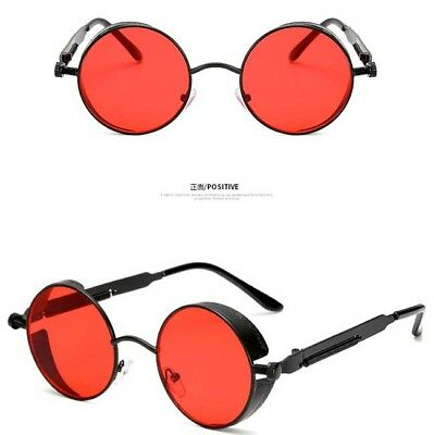 7c2921b6ef ... Vintage Polarized Steampunk Sunglasses Retro Cool Round Mirrored Lens  Glasses 9