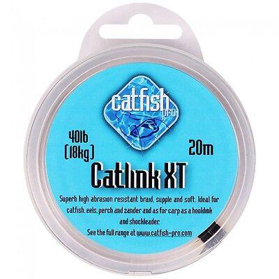 Catfish Pro NEW Catfish Fishing Catlink XT Green Hooklink *All Breaking Strains*
