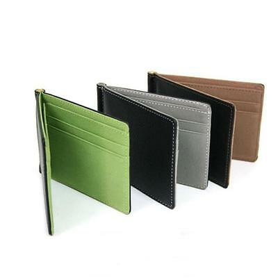 Stylish Ultra-Thin Cute Money Clip Faux Leather Card Holder Bifold Mini Wallet