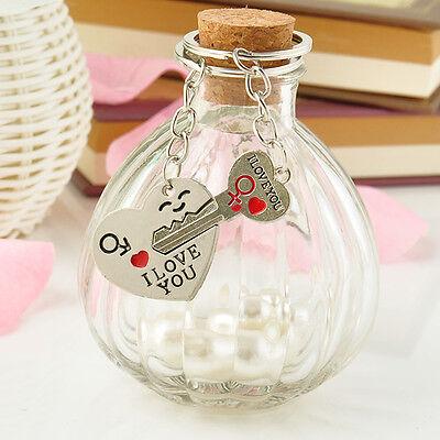 Romantic Couple Keychain Keyring Keyfob Valentine's Day Lover Gift Heart Key Set 6