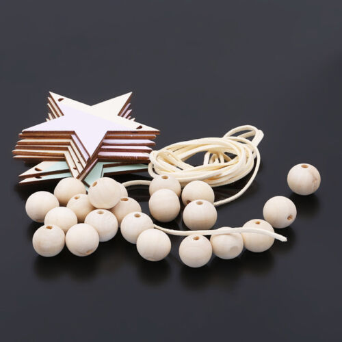 Nordic Wooden Bead Hanging Tassel Stars Children's Decor Ornament LH 10