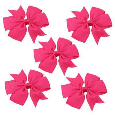 Hair Bows Band Boutique Alligator Clip Grosgrain Ribbon For Girls Baby Kids MA 8