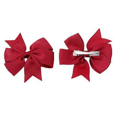 Hair Bows Band Boutique Alligator Clip Grosgrain Ribbon For Girls Baby Kids MA 3