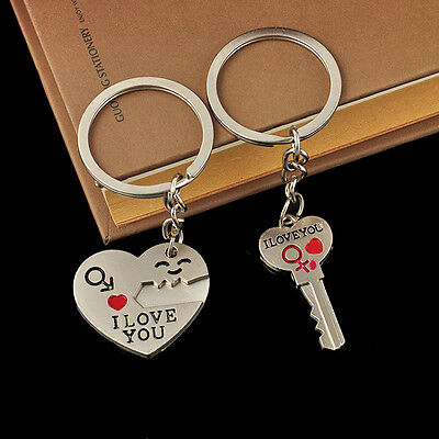 ... 1Pair I lOVE You Key Heart Open your Heart Couples Keychain Keyring  Lovers Gift 7 0bfc96f49