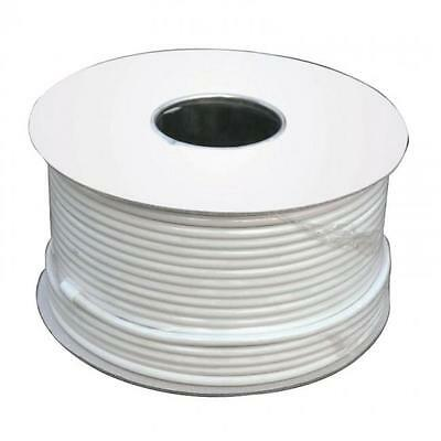 2 Core 0.5mm Flat Flex Electrical Wire 3 Amp PVC Flexible Cable 1m to 100m WHITE
