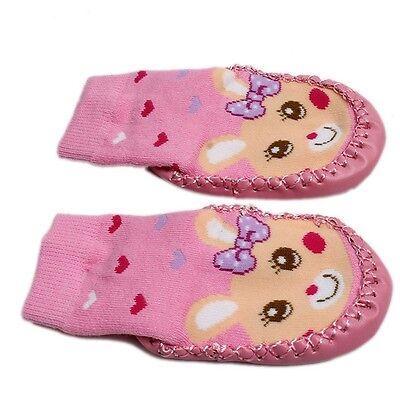 Baby Toddler Non-Slip Moccasins Shoe Socks Booties Slippers Kids Child Socks S