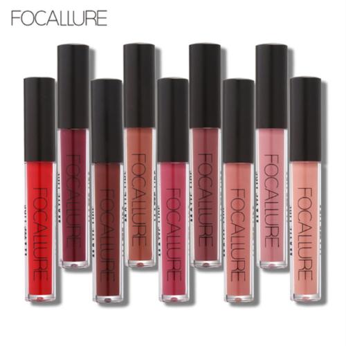 FOCALLURE 25 Colors Long Lasting Waterproof Matte Lipstick Liquid Gloss Cosmetic 6