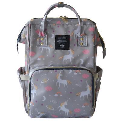 Multifunctional Unicorn Baby Diaper Backpack Mummy Handbag Nappy Changing Bag B 3