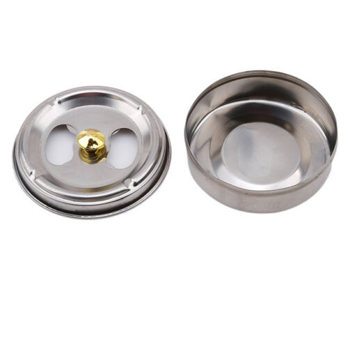 Stainless Steel Round Ashtray With Lid Cigarette Smoking Ash Holder Home YU 6