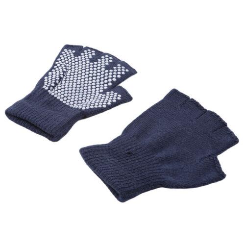 Yoga Pilates Fingerless Non Slip Grip Sticky Gloves Sports Exercise Supplies N3
