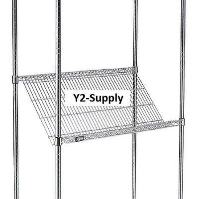 "NEW! Slant Wire Shelving - 5 Shelves - 48""W x 24""D x 63""H!"