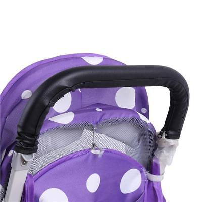 Baby Stroller Pushchair Leather Handle Bumper Armrest Protective Cover DS
