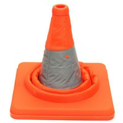 Fold Traffic Road Cone Telescopic Reflective Tape Warning Sign Safety Witches FW 3