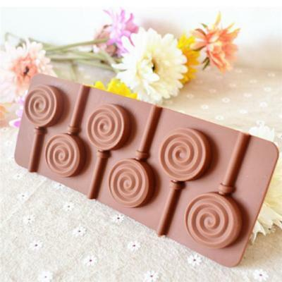 1pc Round Shape Lollipop Holes Mould Silicone Cake Maker Baking Tool Tray BM 2