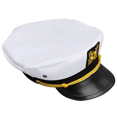 2 of 11 White Unisex Adjustable Navy Marine Yacht Boat Ship Sailor Captain  Hat Cap Hot C 8c4b6a91ec9