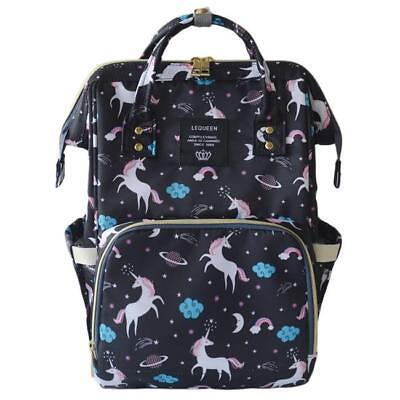 Multifunctional Unicorn Baby Diaper Backpack Mummy Handbag Nappy Changing Bag B 2
