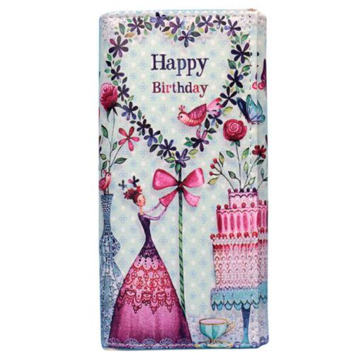 Women Leaf Bifold Wallet Leather Clutch Card Holder Purse Lady Long Handbag LG 6