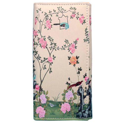 Women Leaf Bifold Wallet Leather Clutch Card Holder Purse Lady Long Handbag LG 9