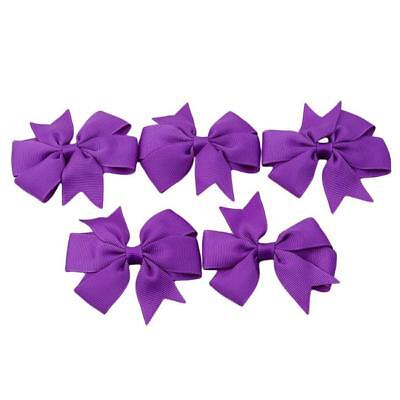 Hair Bows Band Boutique Alligator Clip Grosgrain Ribbon For Girls Baby Kids MA 10