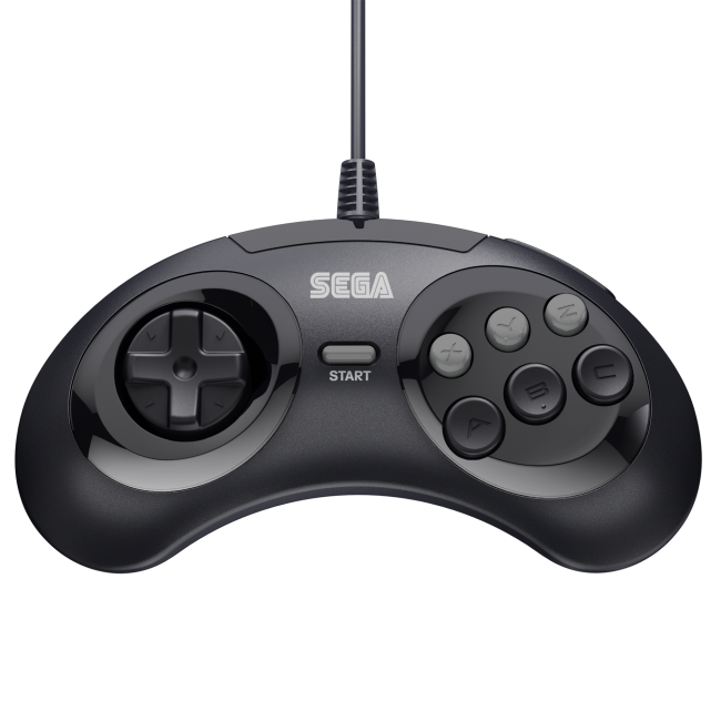 Retro-Bit Official Sega Genesis Controller 6-Button Arcade Pad  Black 3