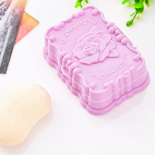 Rose Flower Design Shower Wash Soap Box Dish Case Holder Container Cover Shan