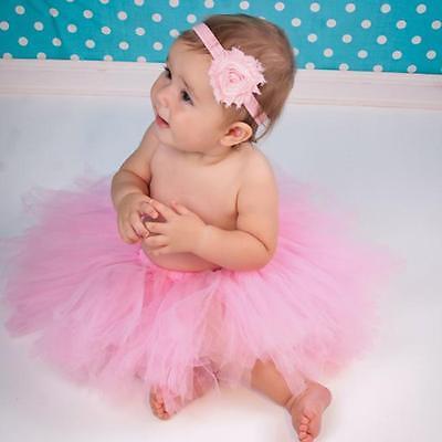 Newborn Headdress flower+Tutu Clothes Skirt Baby Girls Photo Prop Outfits - CB 2
