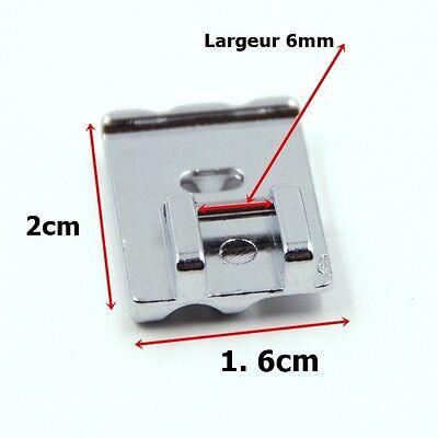 Pied passepoil double, perles 2 rainures métal F067 (4-6mm) machine à coudre 9