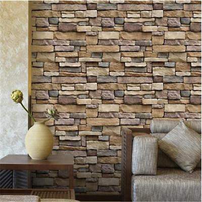 3D Wall Paper Brick Stone Rustic Effect Self-adhesive Wall Sticker Ornament DB 2