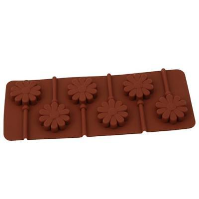 1pc Round Shape Lollipop Holes Mould Silicone Cake Maker Baking Tool Tray BM 5