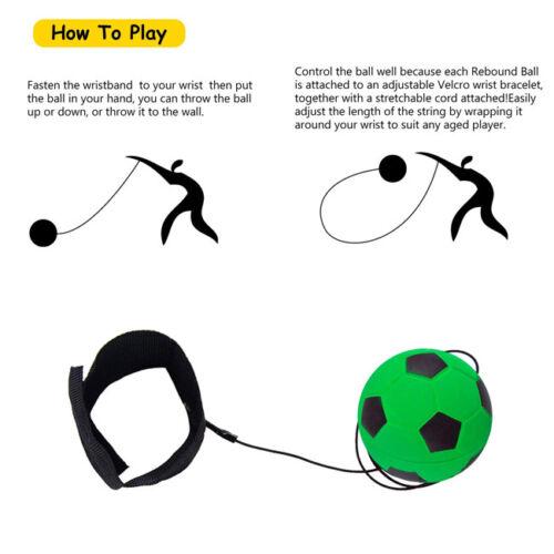 Football Self Training Kick Practice Trainer Aid Equipment Waist Belt Returner J 2