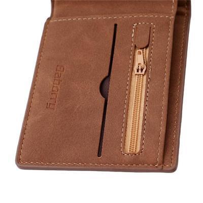 Mens Slim PU Leather Bifold Wallet Thin ID Credit Card Holder Mini Money Case LG