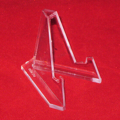 """*12 Small Plus 3-3//8/"""" Clear Acrylic Display Stand Easels"""