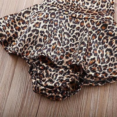 Newborn Leopard Print Romper Infant Baby Girls backless Floral Romper Dress BS 5