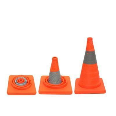 Fold Traffic Road Cone Telescopic Reflective Tape Warning Sign Safety Witches FW 12