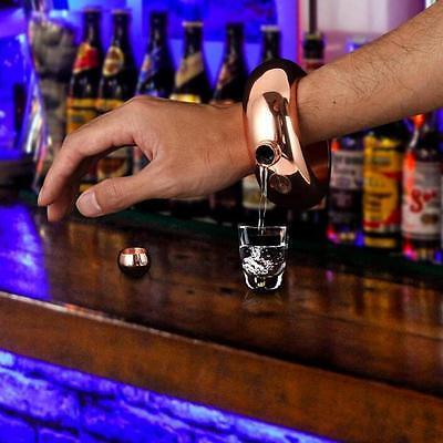 3.5oz Booze Smuggle Bracelet Bangle Flask Alcohol Drink Festival Jewellery TL