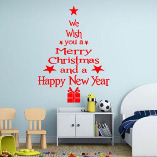 Happy Merry Christmas /& New year Decor Tree Wall Stickers Window Vinyl Decal Z