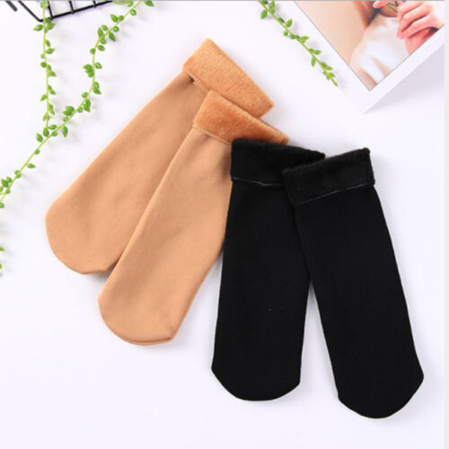 Faux Wool Cashmere Women Thicken Thermal Soft Casual Solid Winter Warm Socks SH