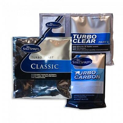 Still Spirits Brew Pack Turbo Classic 8 Yeast, Carbon And Clear 2