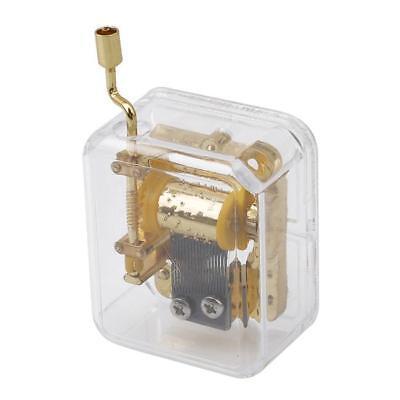 Mini Acrylic Hand Crank Music Box With Sankyo Musical Movement 25 Tunes Option