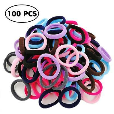 100 Pcs Kids Girl Lady Elastic Hair Bands Ponytail Holder Head Rope Ties CB 2
