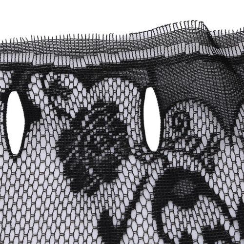 Curtain Skull Bat Web Valance Shawl Tassel Decor Halloween Fashion 6L