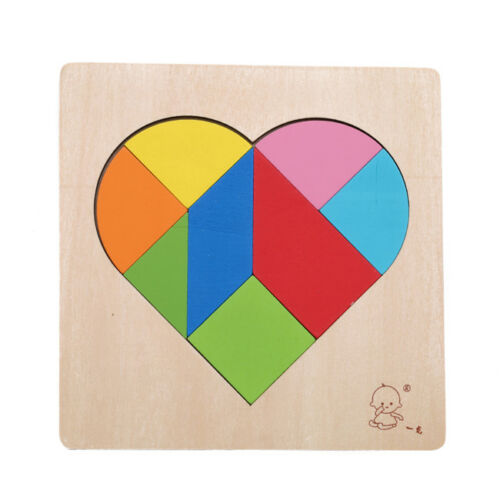 Children Puzzle Kids Wooden Educational Toys Heart Shape Jigsaw Puzzle Toys Shan 8