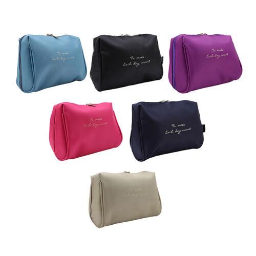 Women Travel Makeup Travel Organizer Cosmetic Toiletry Zip Storage Bag Pouch B 2