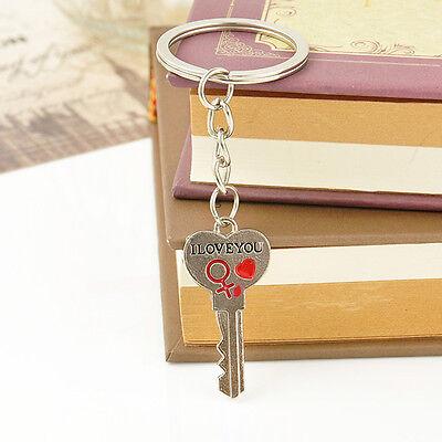 Romantic Couple Keychain Keyring Keyfob Valentine's Day Lover Gift Heart Key Set 9