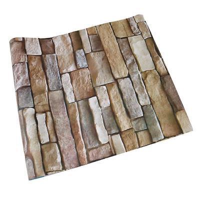 Retro Stone Brick Wallpaper Self Adhesive For Living Room Bedroom Home Decor FG 8