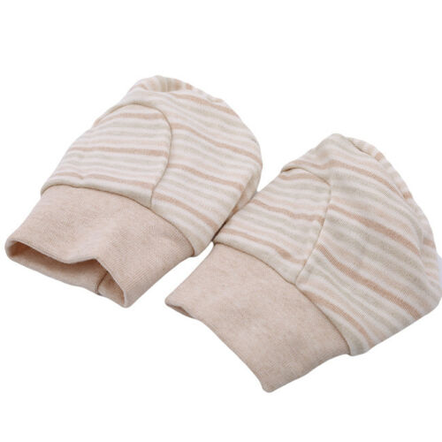 Striped Boy Girl Newborn Anti Scratch Infant Warm Foot Gloves Mittens Unisex N7 3